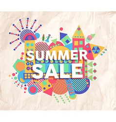 Summer sale quote poster design vector