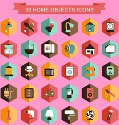 Home objects icons vector
