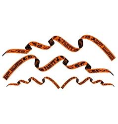 Halloween ribbon vector