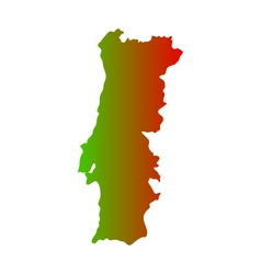 Map portugal vector