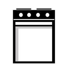 Black and white heater graphic vector