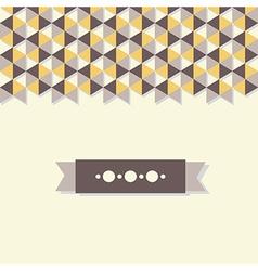 Abstract background banner of hexagon vector