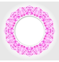 Abstract White Round Frame with Pink Digital vector image vector image