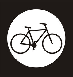 bicycle icon symbol vector image vector image