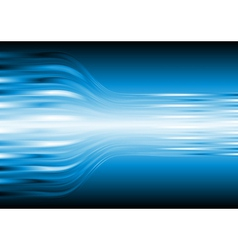 Blue abstract design vector image vector image
