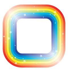 border of rainbow and stars vector image vector image