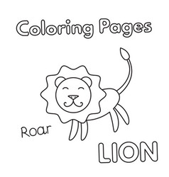 Cartoon lion coloring book vector