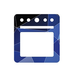 Cooker icon abstract triangle vector