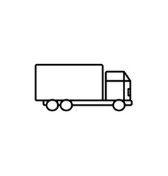 delivery truck icon vector image vector image