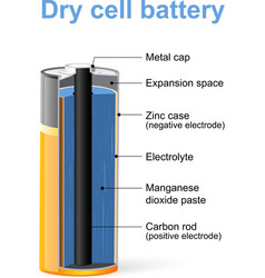 Dry cell battery vector