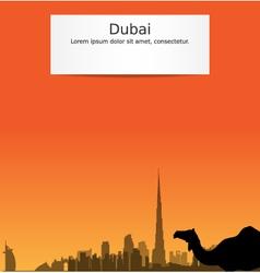 Dubai silhouette skyline vector