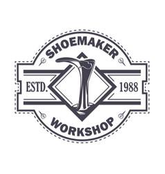 Emblem shoemaker work vector
