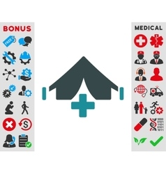 Filed hospital icon vector