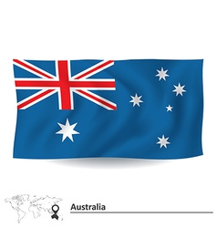 Flag of Australia vector image vector image
