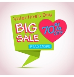 Happy Valentines Day Sale Banner Valentines Day vector image vector image