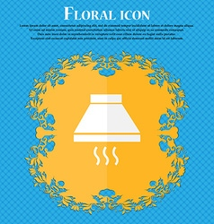 Kitchen hood icon sign floral flat design on a vector