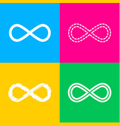 Limitless symbol four styles of icon vector