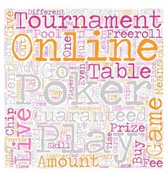 live online poker 1 text background wordcloud vector image vector image