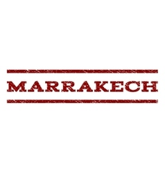 Marrakech Watermark Stamp vector image
