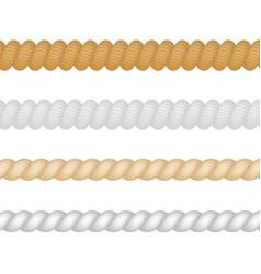 Nautical marine naval twine thickness rope set vector