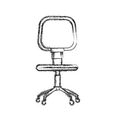 Office chair work style image sketch vector