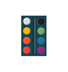 Oil painting palette isolated design on vector