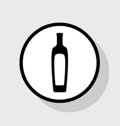 Olive oil bottle sign flat black icon in vector