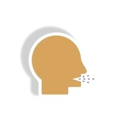 Paper sticker various symptoms of vector