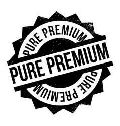 Pure premium rubber stamp vector