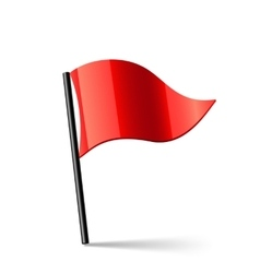 Red Flag vector image