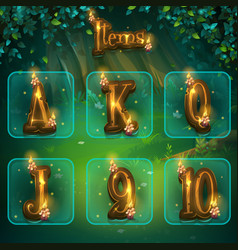 set of different letters for game user interface vector image vector image
