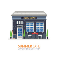 summer cafe building vector image vector image