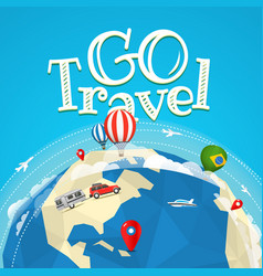 Summer travel go travel concept vector