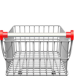 supermarket cart rear view vector image vector image