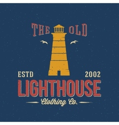 The old lighthouse clothing co nautical abstract vector