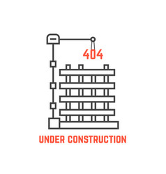 under construction like server error vector image vector image