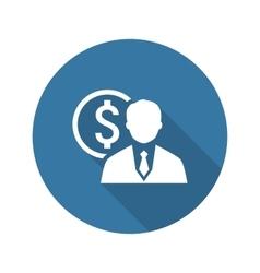Value icon business concept flat design vector