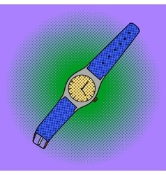 Wristwatch pop art vector image