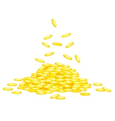 Stack of golden coins vector