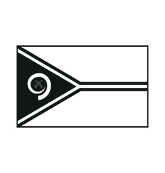 Flag of vanuatu monochrome on white background vector
