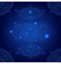 Chakra Ajna on a Dark Blue Background vector image