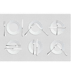 Realistic cutlery and signs of table vector