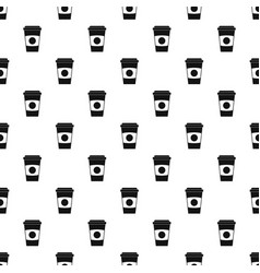paper coffee cup pattern vector image