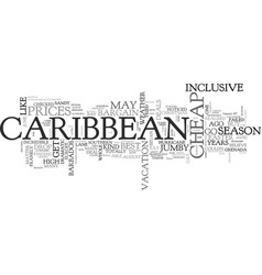 When to get cheap deals in the caribbean text vector