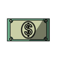 money billet isolated vector image