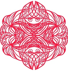 Red tangle pattern vector