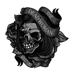 The-Dead-Woman-Skull-Tattoo vector image
