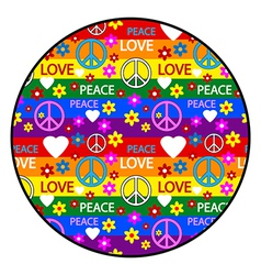 Hippie button vector