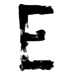 Hand written brush font type alphabet detailed vector