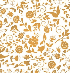 Vintage seamless pattern with flowers on a white vector